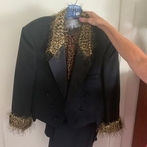 Animal print blazer jacket and top